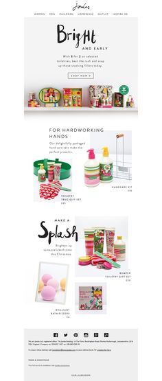 Joules gifts email newsletter