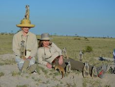 One of our recent clients on safari, hanging out with some residential meerkats!