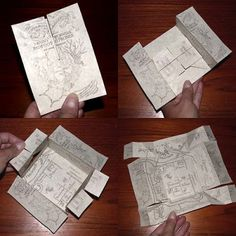 DIY Mini Harry Potter Marauder's Map- oh yeah.... i totally just did this :)