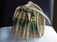 beaded antler basket