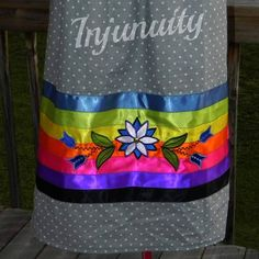 Style: Dressing Up & Down Floral Skirts – Best Fashion Advice of All Time Native American Clothing, Native American Regalia, Native American Beadwork, Band Shirt, Applique Skirt, Traditional Skirts, Powwow Regalia, Jingle Dress, Ribbon Skirts