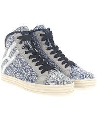 bec16afabfe Women s Gray Grey Suede High Top Trainers With Fur 41-50520-544