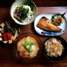 Today s Breakfast Japanese set meal 和食定食の朝ごはん