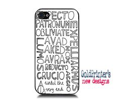 Harry Potter Magic Spells Phone Case. This is WAYYY I cute.