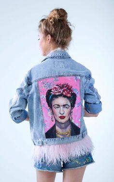 "Oversize denim jacket ""FRIDA""                                                                                                                                        jaqueta jeans tendência 2017"