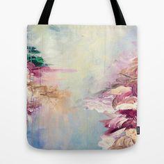 beachbag Beach Carryall Watercolor tote Abstract Tote bag Canvas tote reusable bag Market bag pastel purse shoulder bag Ocean tote