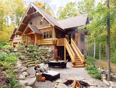 Craftsman builds log homes the old-fashioned way: by hand
