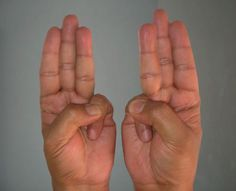 Mudras are certain hand positions that are designed to stimulate different parts of your body and mind. Health And Beauty, Health And Wellness, Health Tips, Health Fitness, Runny Nose Remedies, Hand Mudras, Hand Weights, Watery Eyes, Per Diem