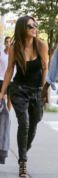 Kim Kardashian: Pants - Jitrois Shoes - Alaia Shirt - K-Dash for QVC Sweater - Celine