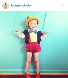 Awesome girl Pinocchio costume from Lacey lane!!!! I love it!!!!! Thinking about it for next year!!!!!