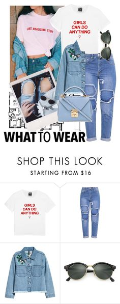 """Untitled #66"" by unicorntips ❤ liked on Polyvore featuring H&M, Ray-Ban and Mark Cross"