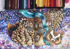 Leve-me até a Lua ⭐️✨✨ finalizado!! #livrosdecolorirantiestresse #livrosdecolorir #coruja #dariasong #thetimegarden #feitiçodotempo #coloringbook #coliringbookforadults #coloringbooks #owl #inspiração #halloween2016 #prismacolor #prismacolorpencils