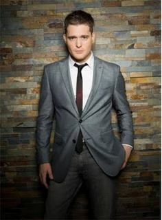 Michael Buble...uhhhh-freakin-mazzzing, and he can sing too! Bonus!