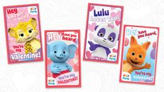 Be Our Valentine! — Jim Henson's Family Hub Printable Valentines Day Cards, Dinosaur Train, Sweet Messages, Jim Henson, I Party, Party Invitations, Creations, Bubbles, Dots