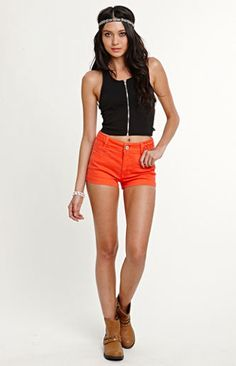 Kendall & Kylie Braided High Rise Shorts by PacSun