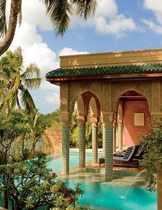 Veronica Webb's Moorish style home.