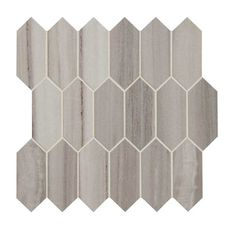 Ivy Hill Tile Oracle Blanco Hexagon in. x in 14 mm Glazed Ceramic Mosaic Tile sq. – The Home Depot – Fireplace tile ideas Ceramic Mosaic Tile, Mosaic Wall Tiles, Stone Mosaic, Glazed Ceramic, Porcelain Tile, Mosaics, Dal Tile, Splashback Tiles, Thing 1