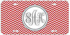 Personalized Monogrammed Chevron Red Grey Car License Plate Auto Tag Top Craft Case http://www.amazon.com/dp/B00LNTDLPI/ref=cm_sw_r_pi_dp_Lritub1VXKDES