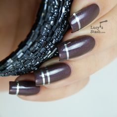 Pinned by www.SimpleNailArtTips.com TAPING NAIL ART DESIGN IDEAS -  Lucys Stash - striping tape design