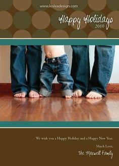 Holiday Card - do 2 photos feet on the bottom, heads on the top
