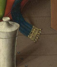 Rogier van der Weyden,The Magdalen Reading,before 1438, detail of belt