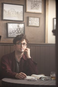 Movie still of Daniel Radcliffe as Allen Ginsberg in Kill Your Darlings.