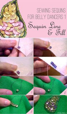 How to Sew Sequins Line and Fill
