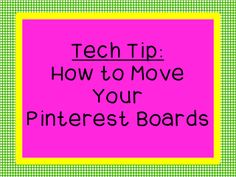 How to rearrange Your Pinterest Boards