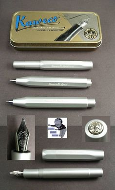 # Kaweco Sport AL fountain pen, ballpoint and pencil Alu in silver new   # #Kaweco