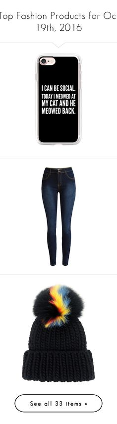 """""""Top Fashion Products for Oct 19th, 2016"""" by polyvore ❤ liked on Polyvore featuring tops, sweaters, shirts, blue, lightweight shirt, logo shirts, long sleeve jumper, round collar shirt, long-sleeve shirt and accessories"""