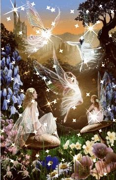 Irish angel with fairies image by spidersbite999 - Photobucket