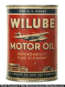 Wilube Motor Oil Can