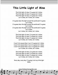 This Little Light of Mine lyrics, printout, midi, and video. Bible Songs For Kids, Songs For Toddlers, Kids Poems, Children Songs, Childrens Bible Songs, Campfire Songs For Kids, Great Song Lyrics, Songs To Sing, Silly Songs