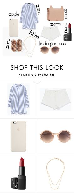 """""""summer in the city"""" by florabugan ❤ liked on Polyvore featuring Zara, Linda Farrow, NARS Cosmetics, H&M, women's clothing, women, female, woman, misses and juniors"""
