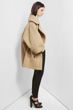 Chloe camel herringbone coat