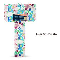 2016 Summer tsumori chisato Yukata Light Blue Pink Poppy