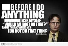 The Office. One of the few TV shows that can make me laugh out loud. Hd Wallpaper, Wallpaper Awesome, Dwight Schrute Quotes, Dwight Quotes, The Office Dwight, Office Quotes, Office Memes, Funny Office, The Office