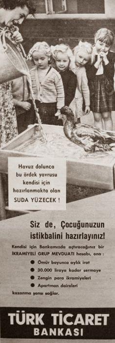 OĞUZ TOPOĞLU : türk ticaret bankası 1958 nostaljik eski reklamlar...