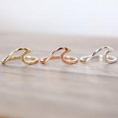 Sterling Silver Wave Ring   Bohemian Mermaid Jewelry   Indie and Harper – www.indieandharper.com