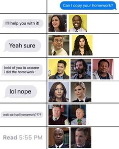 """If you watched this show, you know why this is funny. Wenn Sie diese Show gesehen haben, wissen Sie, warum das lustig ist. """"In the Meme-time…"""" Brooklyn 9 9, Brooklyn Nine Nine Funny, Haha Funny, Funny Memes, Hilarious, Funny Quotes, Funny Stuff, Memes Humor, Funny Fails"""