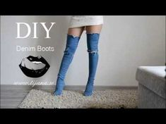 "DIY Como Forrar zapatos o botas con tela Jeans o Denim ""Customizar, Renovar, Reciclar"" - YouTube"