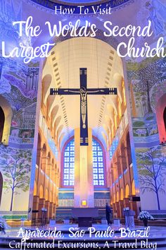 Learn about the second largest church in the world, which can be found in the small town of Aparecida, Brazil! #aparecida #aparecidasaopaulo #aparecidadonorte #aparecidasp #aparecidabrazil #aparecidabrasil #santuarionacional #nossasenhoraaparecida #largestchurches #biggestchurches #hugechurches #biggestchurchesintheworld #largestchurchesintheworld #hugecathedrals #saopaulo #saopaulobrasil #saopaulobrazil #visitsaopaulo #visitsaopaulobrazil #visitbrazil #braziltravel #travelbrazil