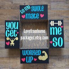 To my Swolemate color change long distance military care package flaps from LoveFromHomePackages on Etsy
