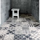 make the showers a room with tub built from floor up In the shower: custom Carocim tile, created in Morocco.   Photo by Wichmann + Bendtsen.