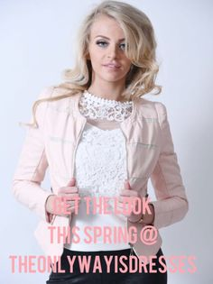 Get the HOTTEST Spring fashions @ theonlywayisdresses. This gorgeous baby pink faux leather Bomber is the perfect little jacket to finish that spring look. £66.99 https://theonlywayisdresses.com/collections/jackets/products/pink-leather-look-bomber-jacket