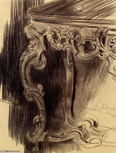 Study of a Table by Giovanni Boldini (1842-1931, Italy)