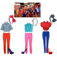 """Girls' Generation """"Gee Japanese Ver."""" Inspired Outifts by shinee-panda on Polyvore featuring polyvore fashion style Tanya Taylor Isa Arfen J Brand Relish Polo Ralph Lauren Jessica Simpson Brian Atwood Accessorize (Riley, Mya, Sophia)"""