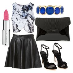 """Untitled #39"" by kola-sara on Polyvore featuring Topshop, Givenchy and Monet"