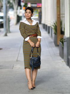 DIY Dropped Shoulder Dress Styled For Fall - Mimi G Style