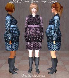 "PML-Pregnant Momma Lisa-""Maxis Boot Dress"" (2 Colors)"